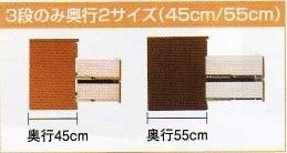 ワークスⅡ-60-3ローチェスト(奥行45cm)