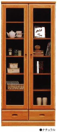 アール-80書棚 天然木フリーボード